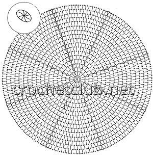 комплект крючком радужный колокольчик-схема шляпки