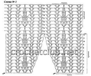 летний пуловер крючком-схема 1