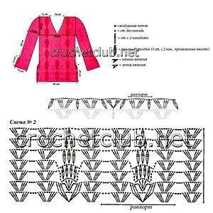 летний пуловер крючком-схема 2
