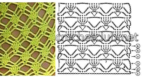 схему вязания узора