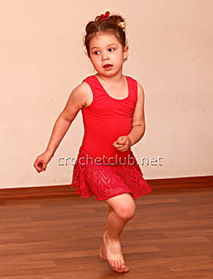 вязаная юбочка для занятий хореографией
