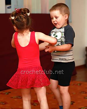 вязаная юбочка для занятий хореографией 1