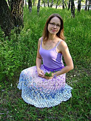 юбка цветущая сирень