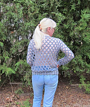 пуловер-сетка крючком 1