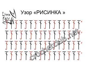 рельефный узор рисинка-схема