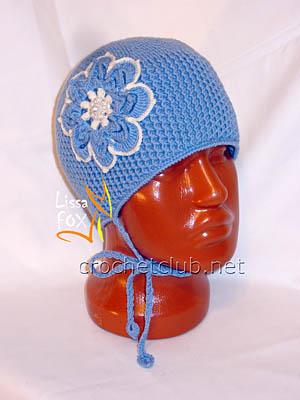 вязаная шапка изморозь 1