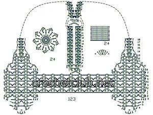 жилет кораллового цвета крючком-схема