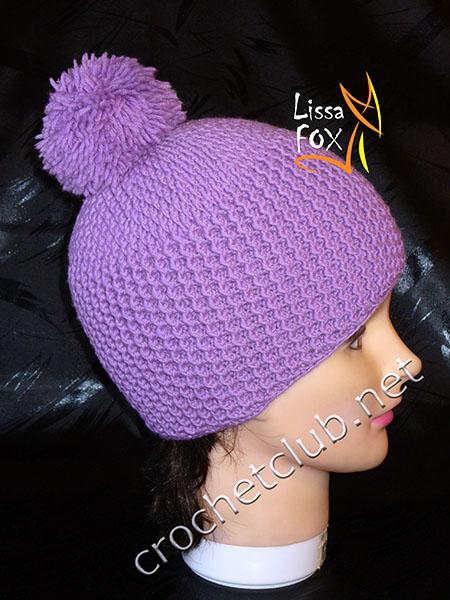 вязаная шапка изморозь онлайн