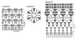 вязаная юбка и палантин-схемы 1-3
