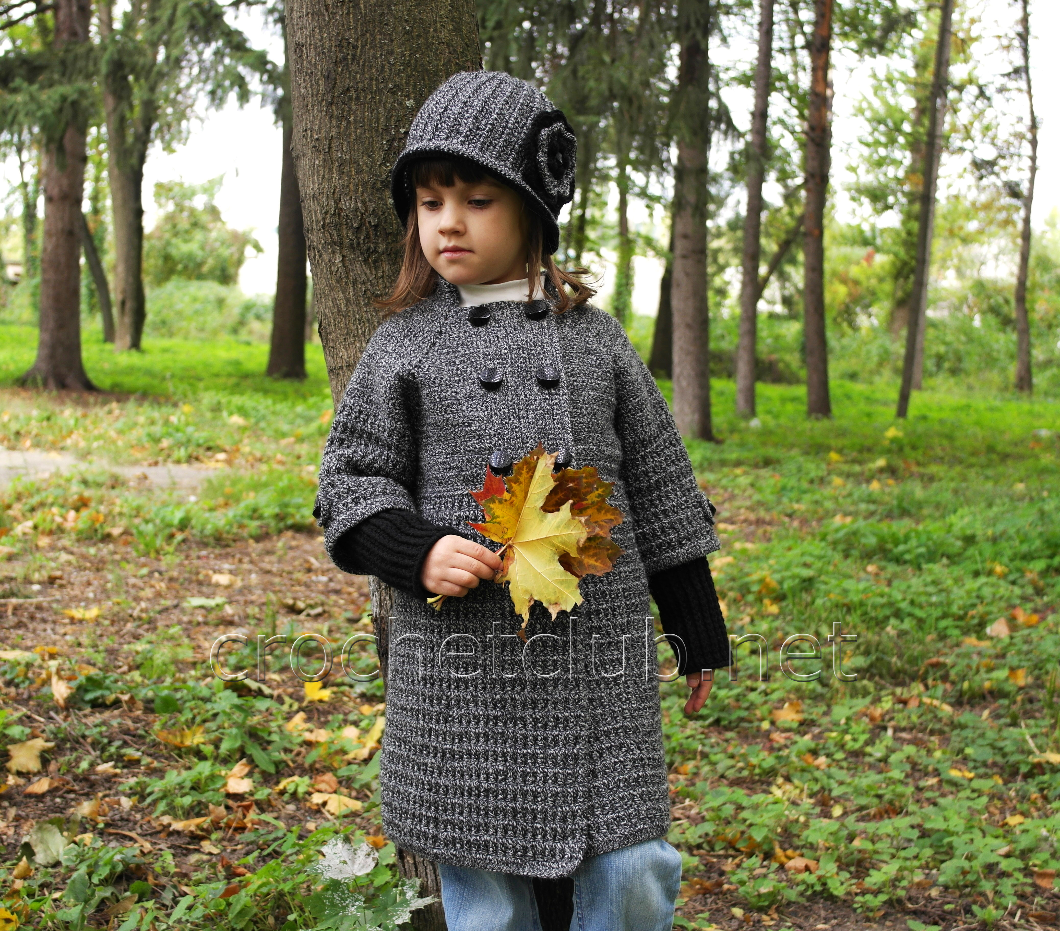 пальто крючком для девочки 4 лет схемы