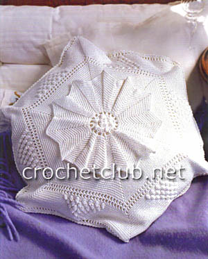 диванная подушка крючком