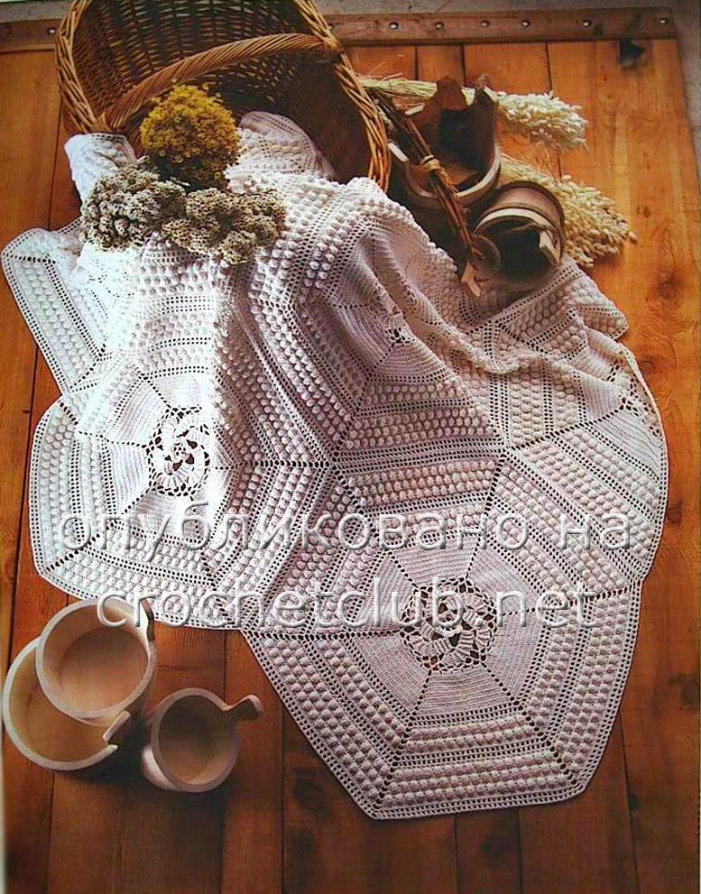 Для вязания пледа потребуется: