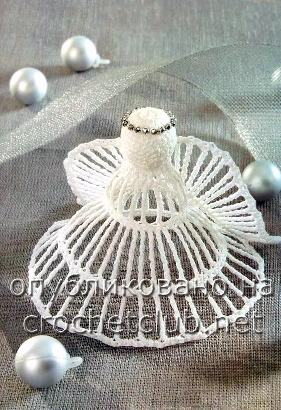 Вязаный рождественский ангел - Вязание Крючком. Блог Настика