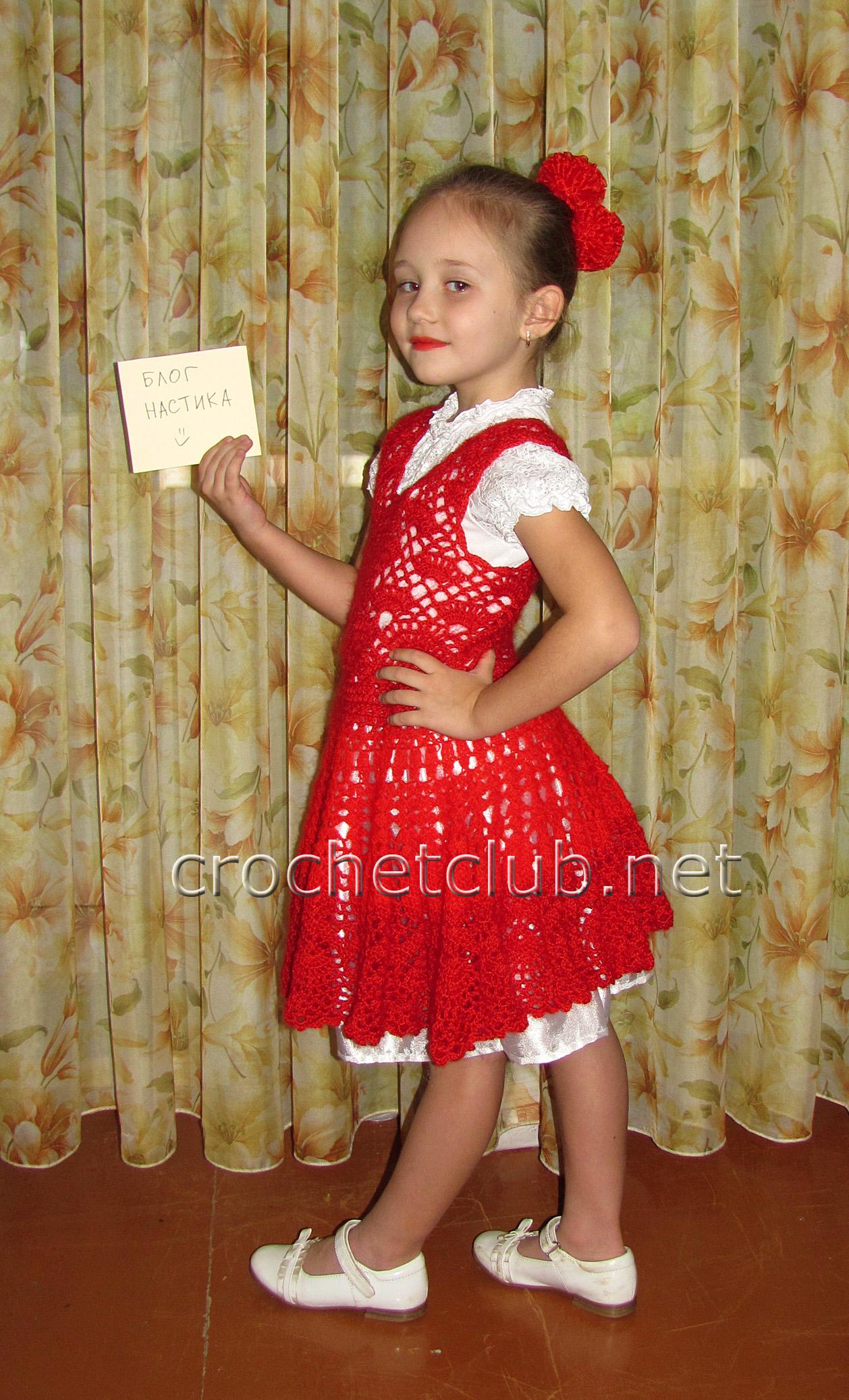 Новогодний костюм «Кармен» - Вязание Крючком. Блог Настика - photo#11
