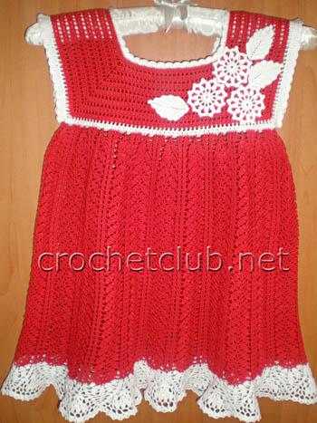 праздничное платьице крючком 1