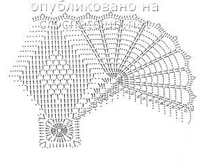 салфетки связанные крючком-схема 1