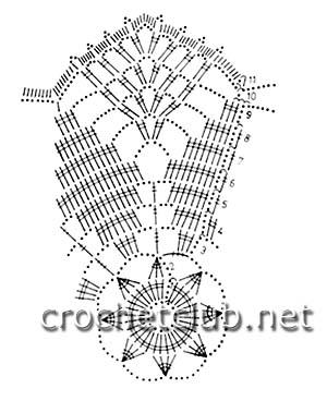 салфетки связанные крючком-схема 3