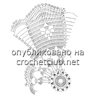 салфетки связанные крючком-схема 4