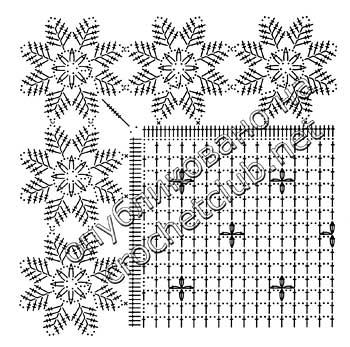 скатерть с каймой из снежинок-схема