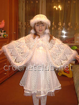 вязаный костюм метелица