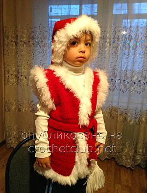 вязаный костюм новый год