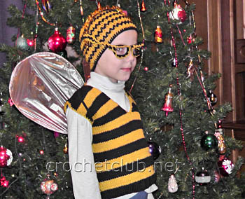 вязаный костюм пчелка жу-жу-жу