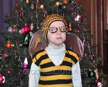 вязаный костюм пчелка жу-жу-жу 1
