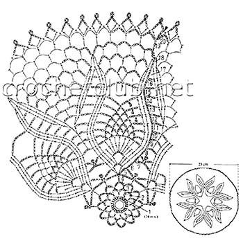 круглые салфетки крючком 2-схема