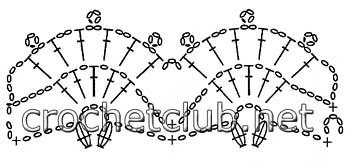 пончо крючком снежинка-схема 2