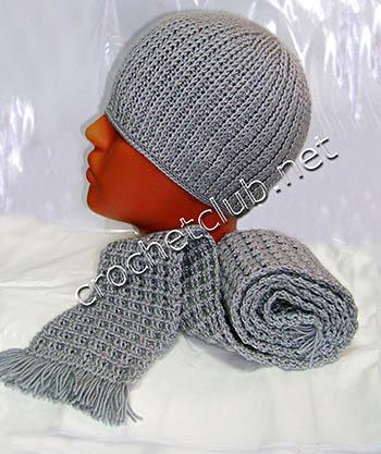 детская шапочка и шарф для мальчика