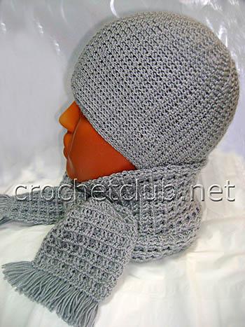 детская шапочка и шарф для мальчика 1
