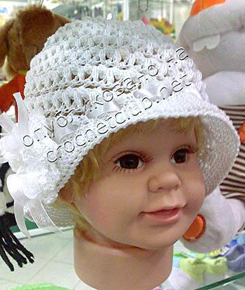 детская шляпка крючком