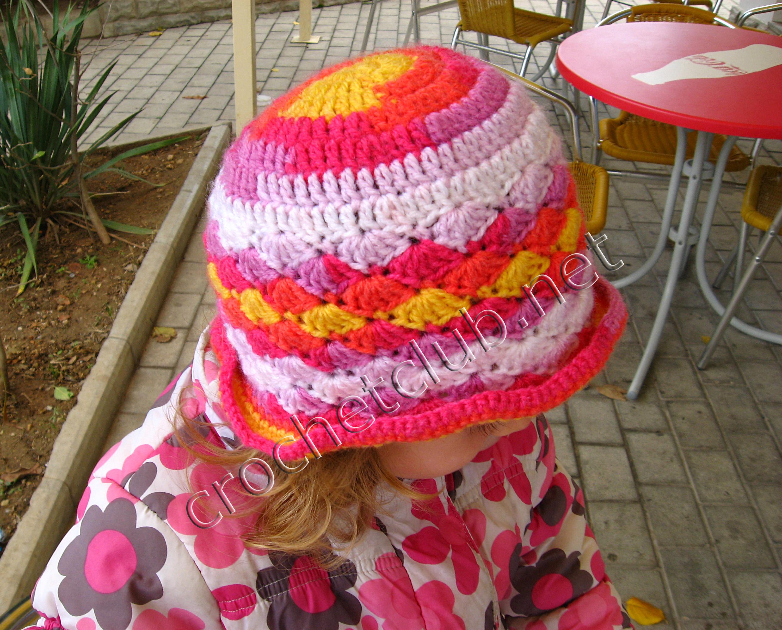 Детская шляпка крючком схема фото 380