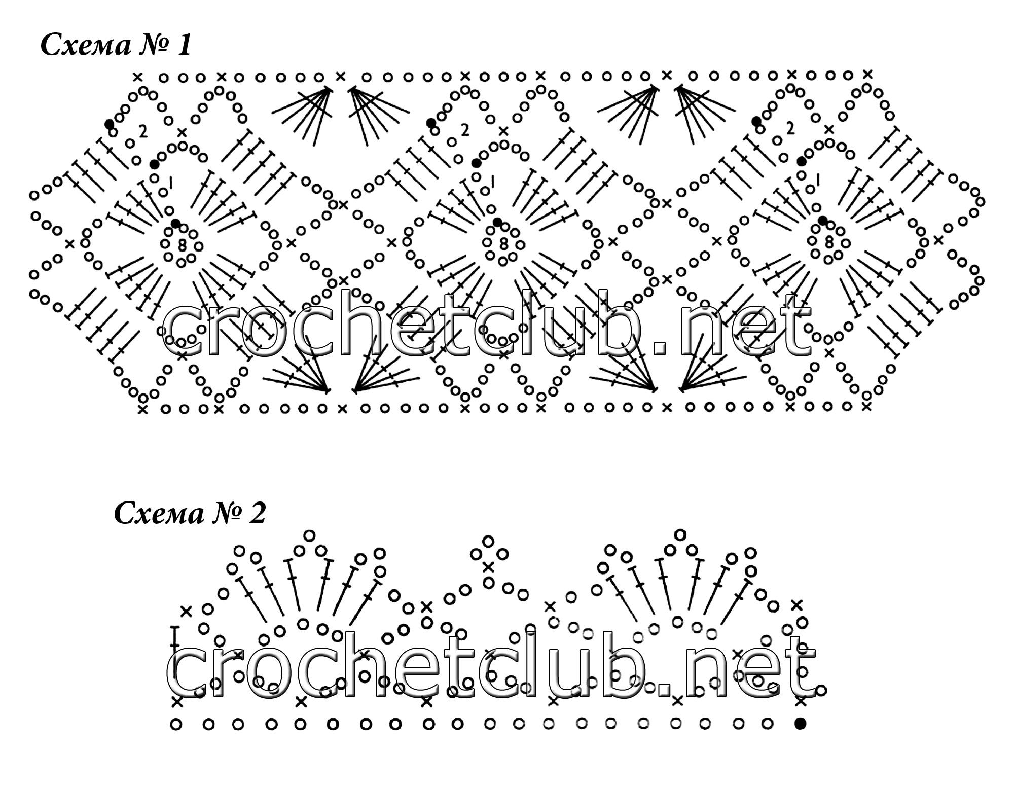 Вязание крючком схема вязания шорт 142