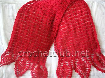 шарф-палантин крючком