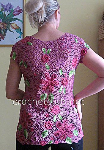 блузка в технике ирландского кружева