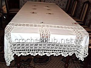 скатерть ткань и вязание