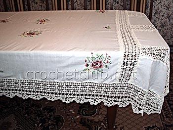 скатерть ткань и вязание 1