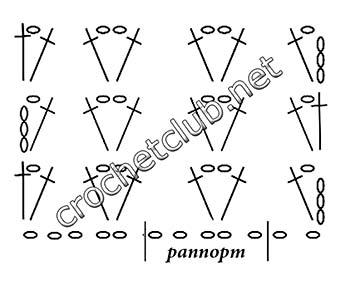туника-трансформер крючком-схема