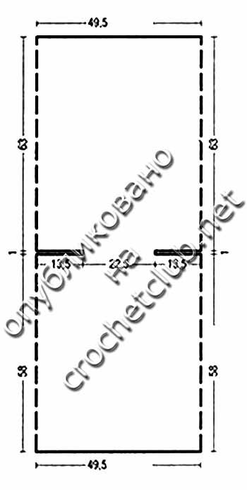 туника-трансформер крючком-выкройка