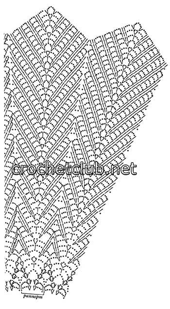 вязаная круглая скатерть-схема