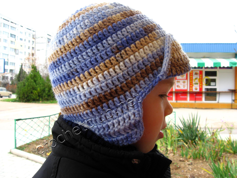 Вязаная шапка для мальчика - Вязание Крючком. Блог Настика