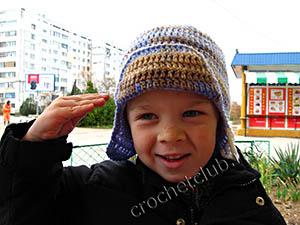 вязаная шапка для мальчика 1