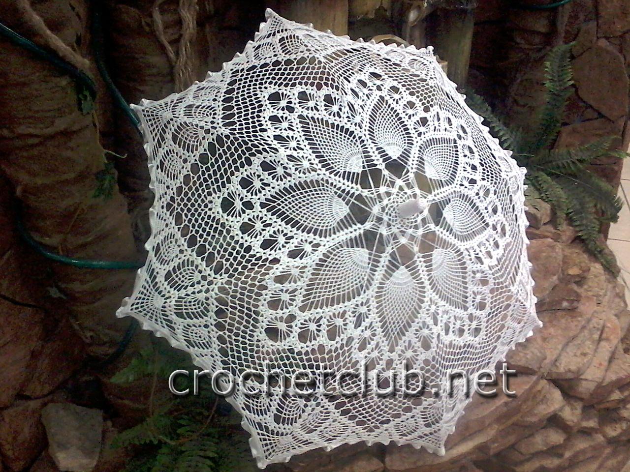 Схемы вязанных зонтиков