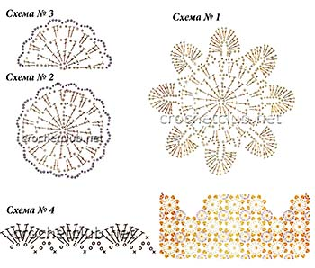 вязаное болеро из мотивов-схемы