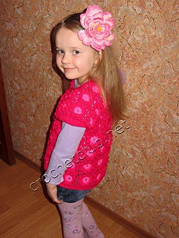цветочная жилетка для девочки