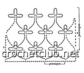 палантин-сетка крючком-схема