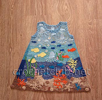 платье аквариум в ирландской технике 2