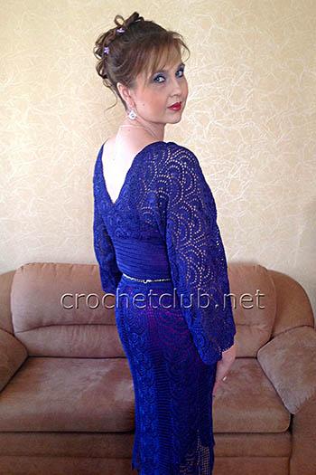 платье связанное из ленточного кружева
