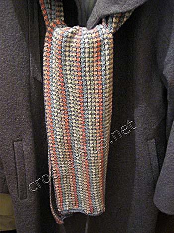 разноцветный шарфик крючком 3